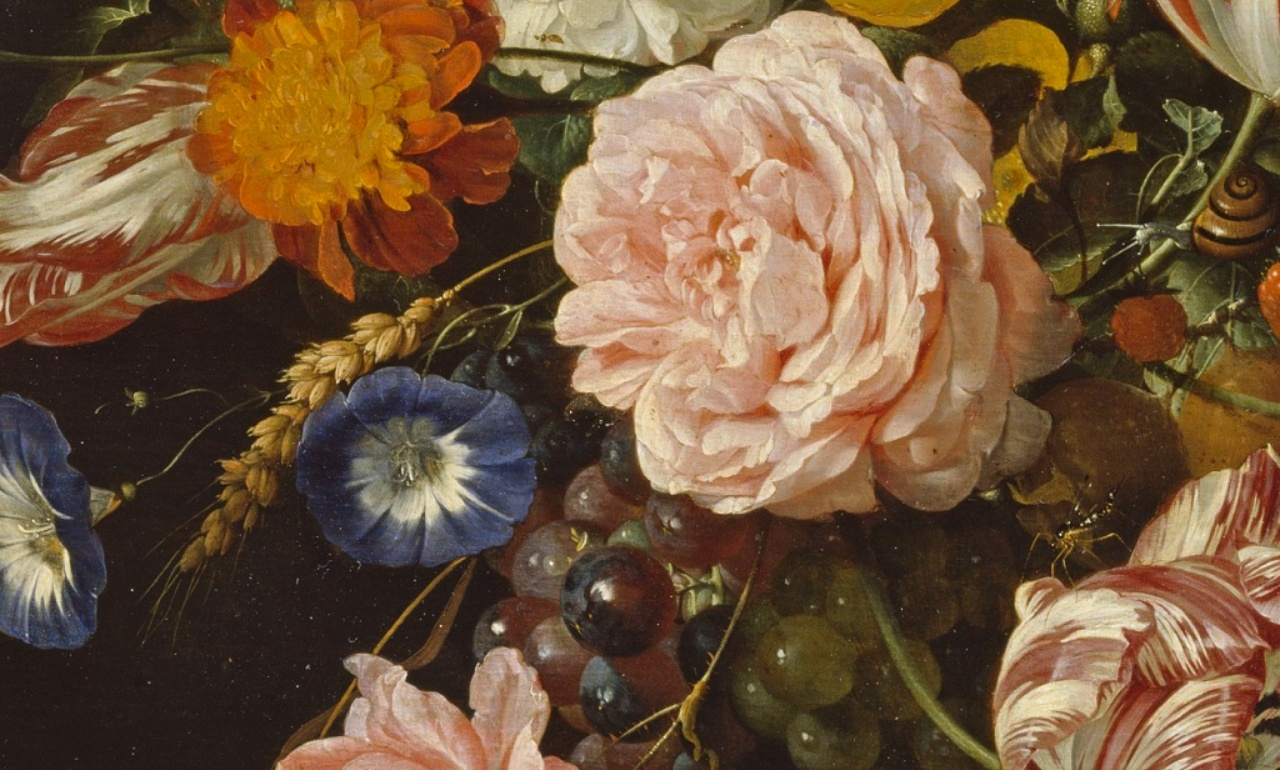Jan Davidz. de Heem, <i>Garand of Flowers and Fruit</i> (detail)