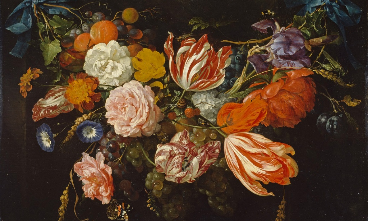Jan Davidz. de Heem, <i>Garand of Flowers and Fruit</i>, about 1660